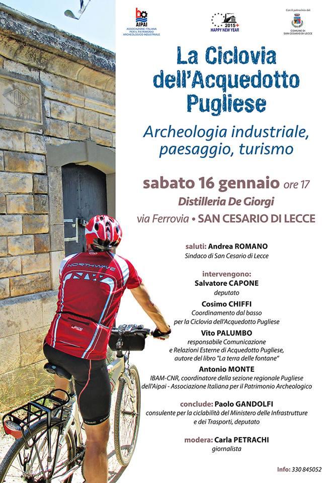 Ciclovia AQP Archeologia industriale, paesaggio turismo